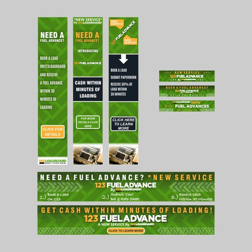 Interactive Banner Ad for 123FuelAdvance