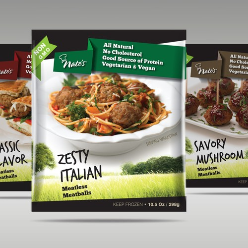 Packaging design - Nate's Frozen Food