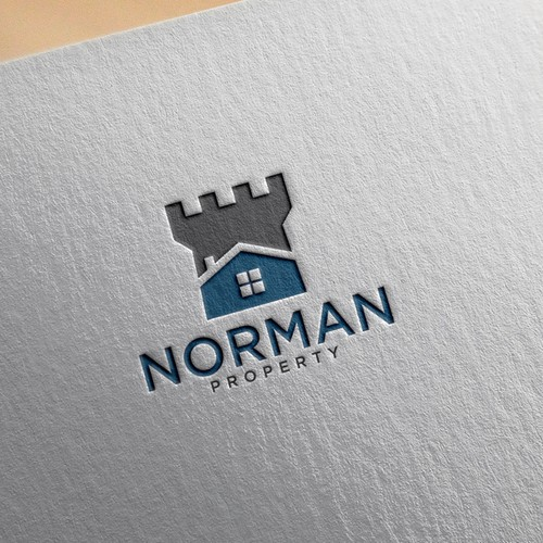 Bold logo for Norman Property company