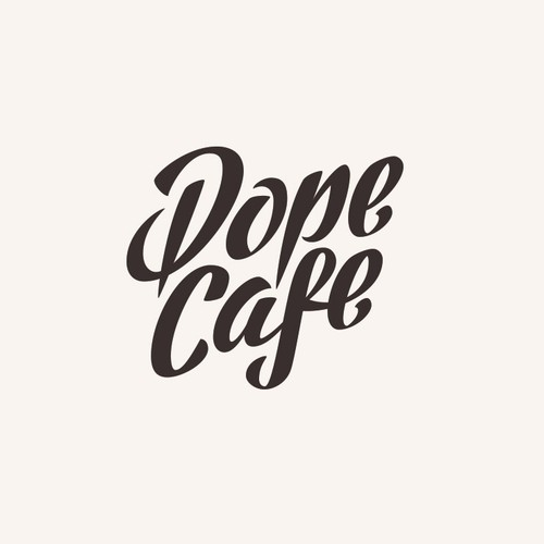 Coffee Shop Lettering Logo Design