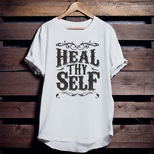 vintage style shirt for fitness, healthy living, positive attitude