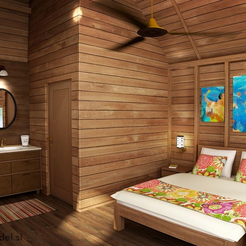 3d visualization for tropical resort