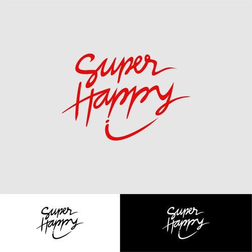 logo concep for supper happy