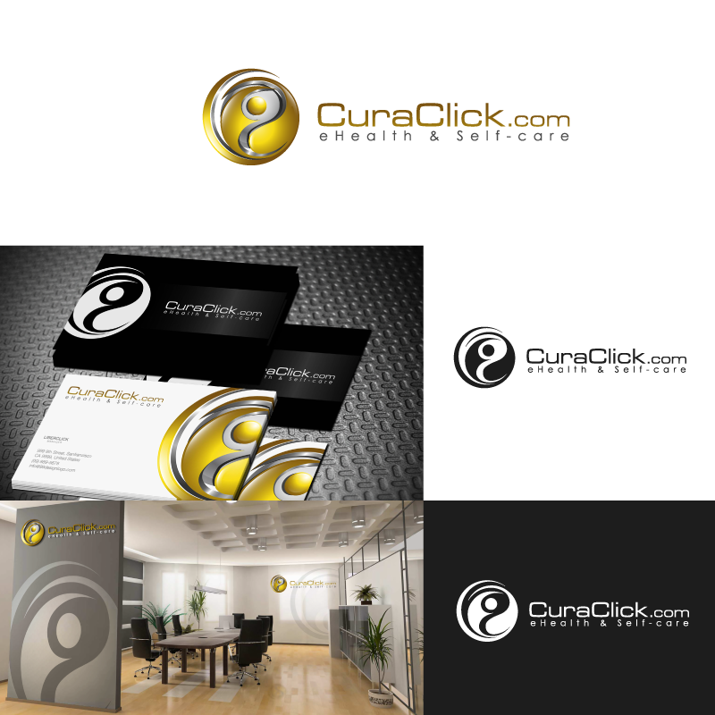 Create a killer logo for CuraClick, supporting patients all over the world !