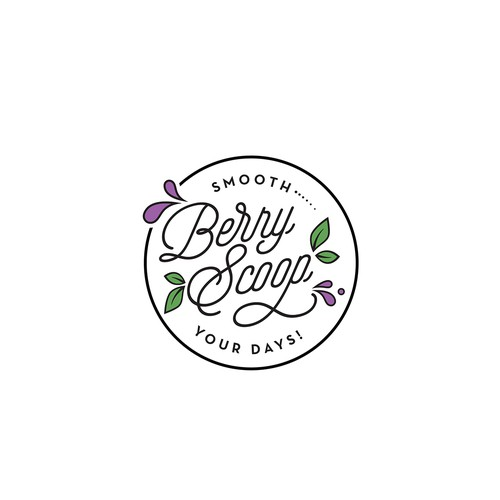 Playful and modern logo for smoothies bowl