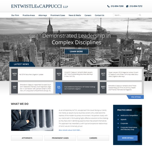 Entwistle Law Website Design