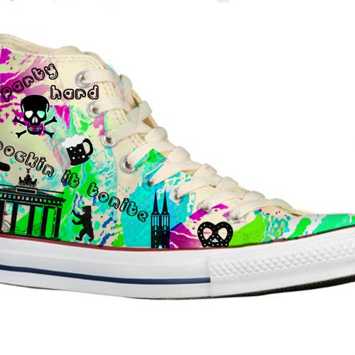 Surface pattern design for converse
