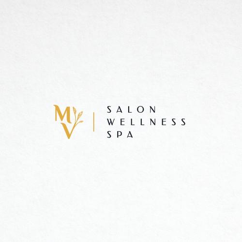 Logo proposition for MV wellness salon