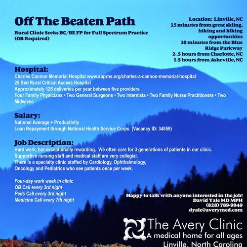 Rural Family Medicine Clinic Needs a Recruitment Brochure