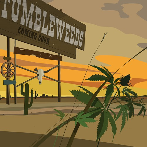 Western Movie Landing Page Illustration