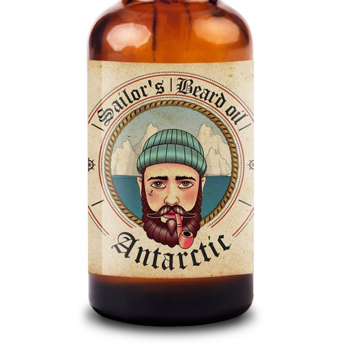 Labels design for Sailor's Beard Oil