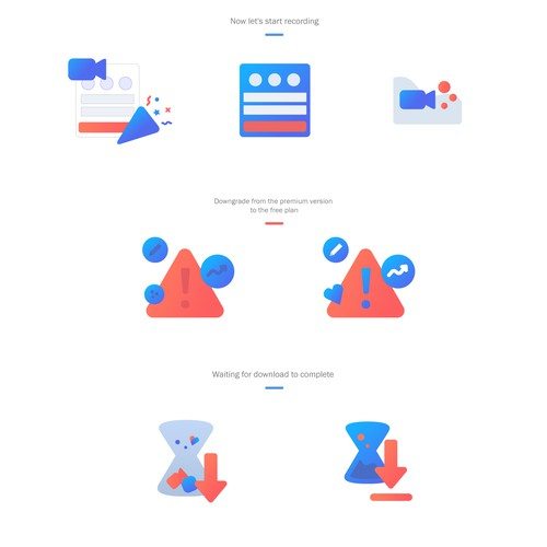 Fun illustrations for product onboarding experience