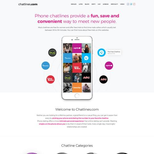 Website design for Chatlines.com