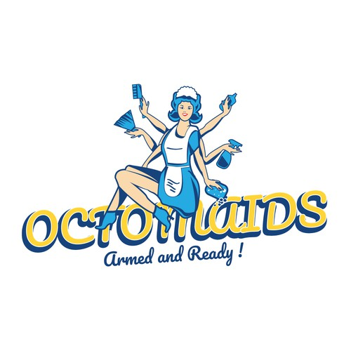 """Logo concept for """"Octomaids"""""""