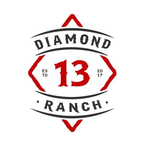 Design a brand/logo for 13 of Diamonds Ranch