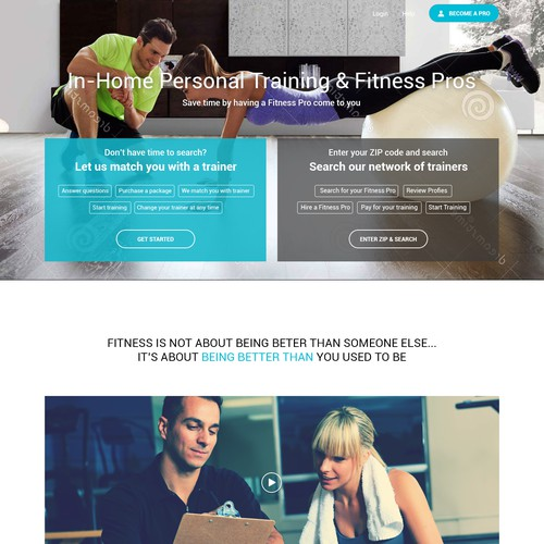 Web pages for Fitness Company