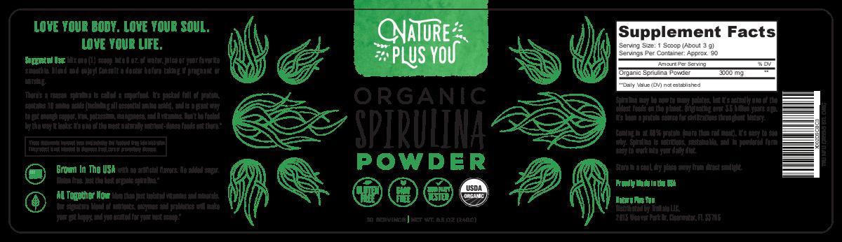 Nature Plus You Spirulina Powder