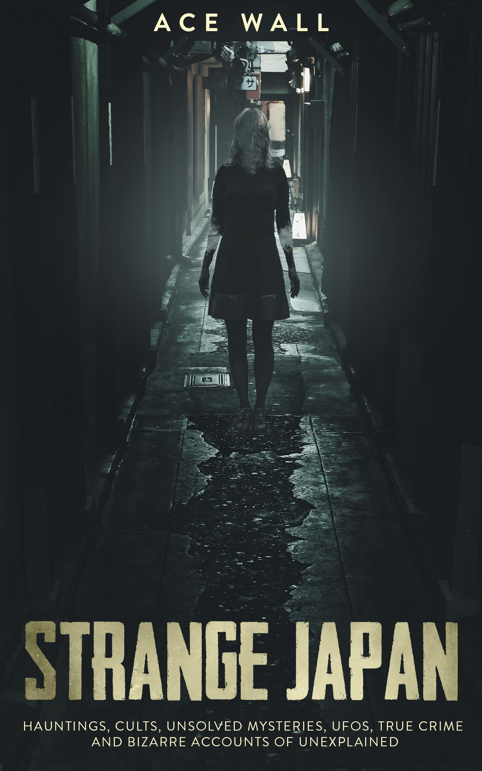 Book cover for Japan based paranormal and True Crime stories