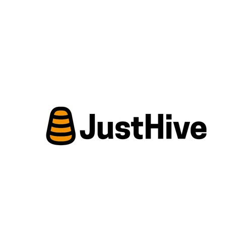 Abstract and minimal hive logo.