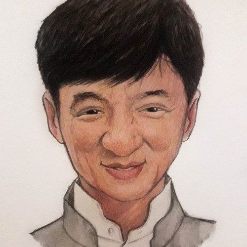 Watercolor Jackie Chan Caricature