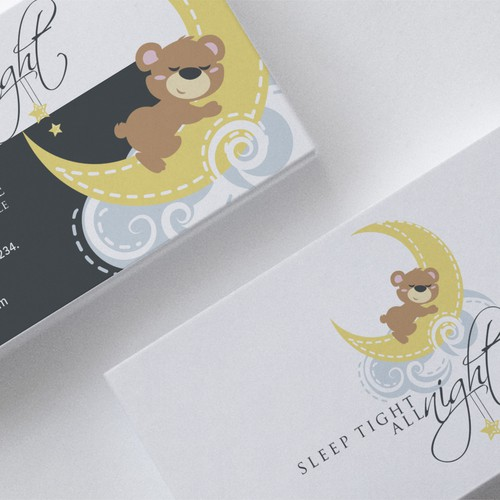 Business card design that speaks to sleep deprived parents