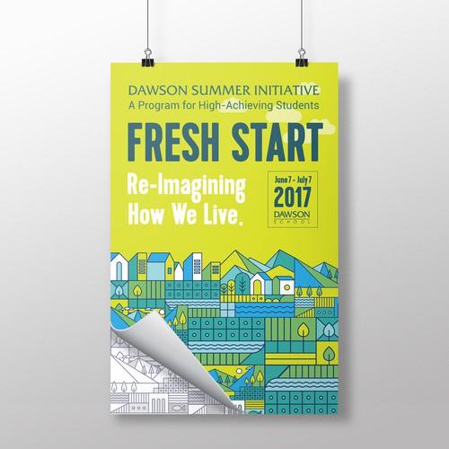 Poster design for a summer academic program