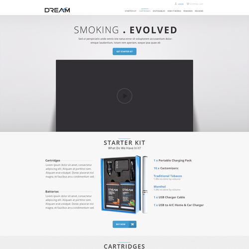 Home page for DREAM Smoking