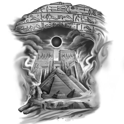 EGYPT THEME TATTOO