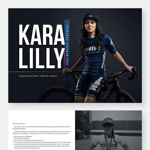 Sponsorship package for an aspiring athlete!
