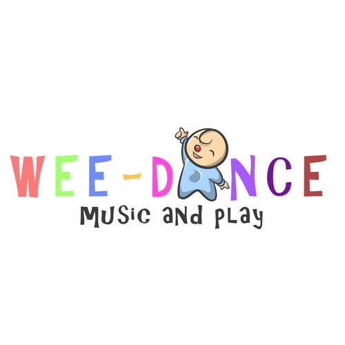 create a fun and playful logo for a children's creative dance franchise