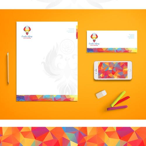 Brand identity design for Creative Rising