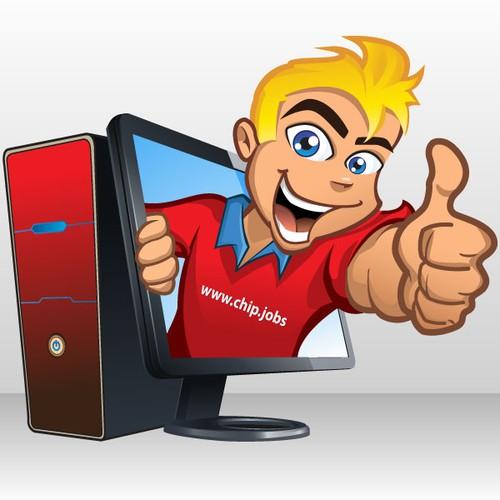 """Create """"Chip"""", a mascot for an IT job website"""