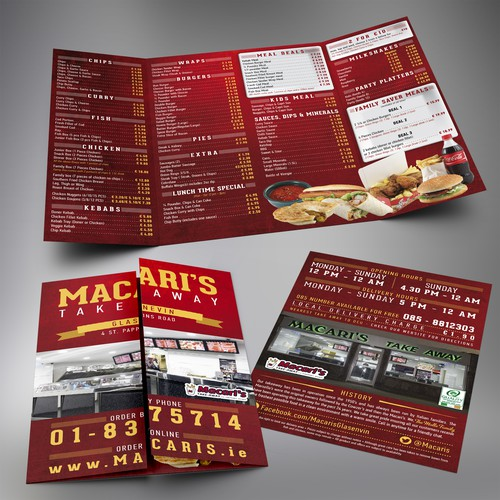 brochure design for A Fast Food Restaurant