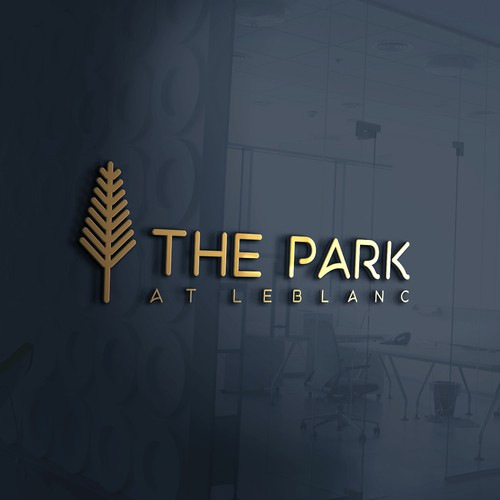 Simple & Modern Logo concept for The Park apartment complex.