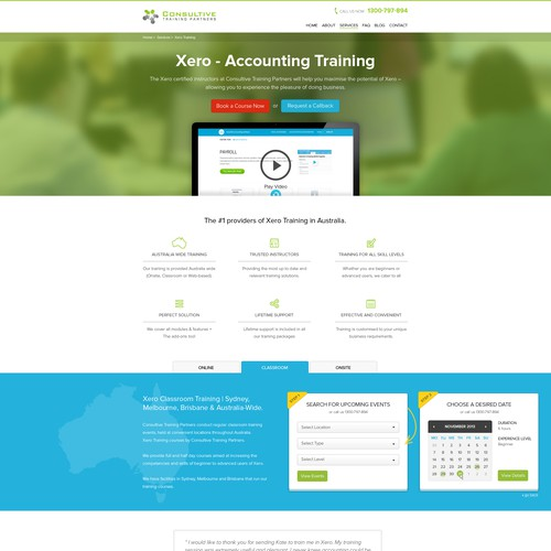 Create Landing Page for Computer Training Company
