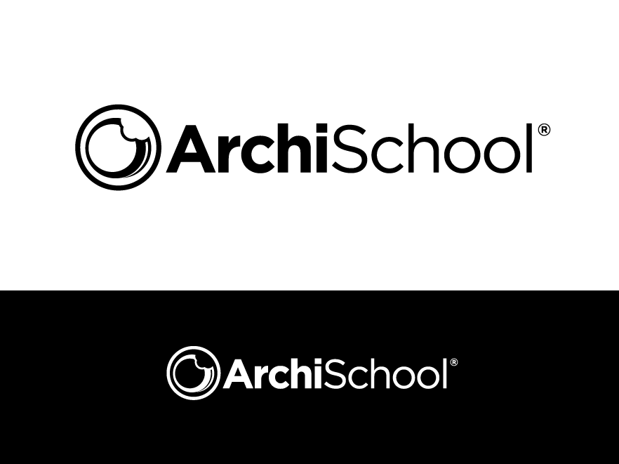 ArchiSchool needs a new logo black minimalist uppercased with a discreet touch of fun
