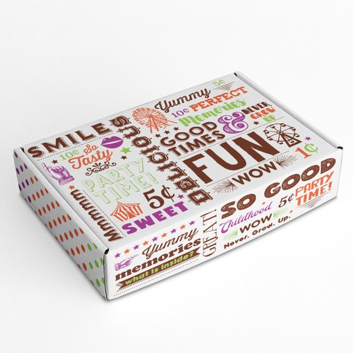Shipping Box for vintage candy shop