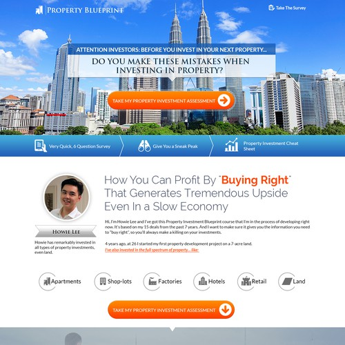 Create a property investment landing page