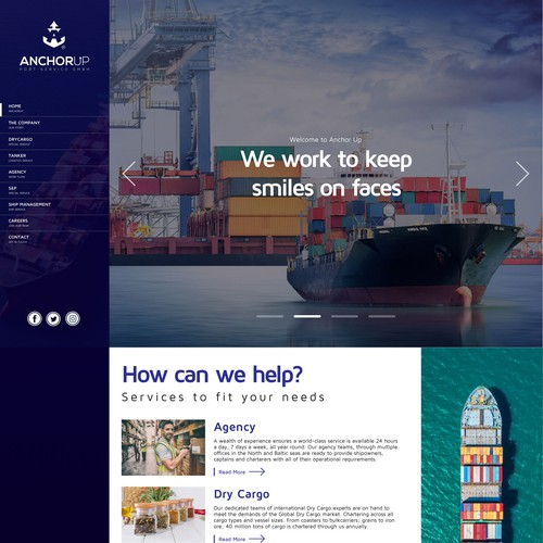 Website Design for Shipping Company