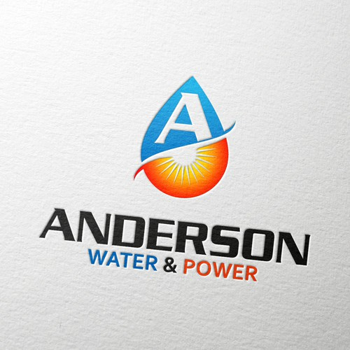 Bold Logo for Anderson Water & Power