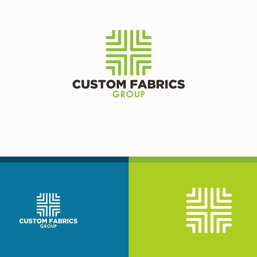 Bold logo concept for custom fabrics group