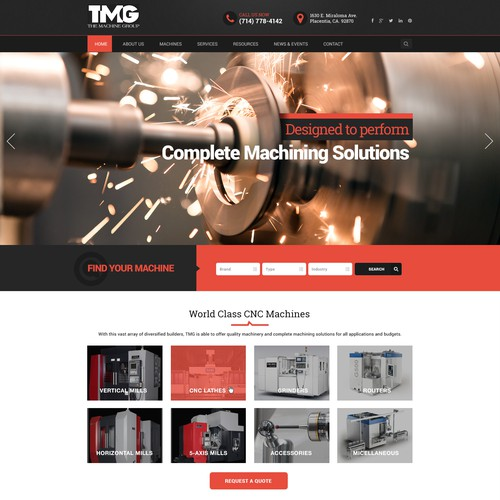 Webdesign for machine dealer