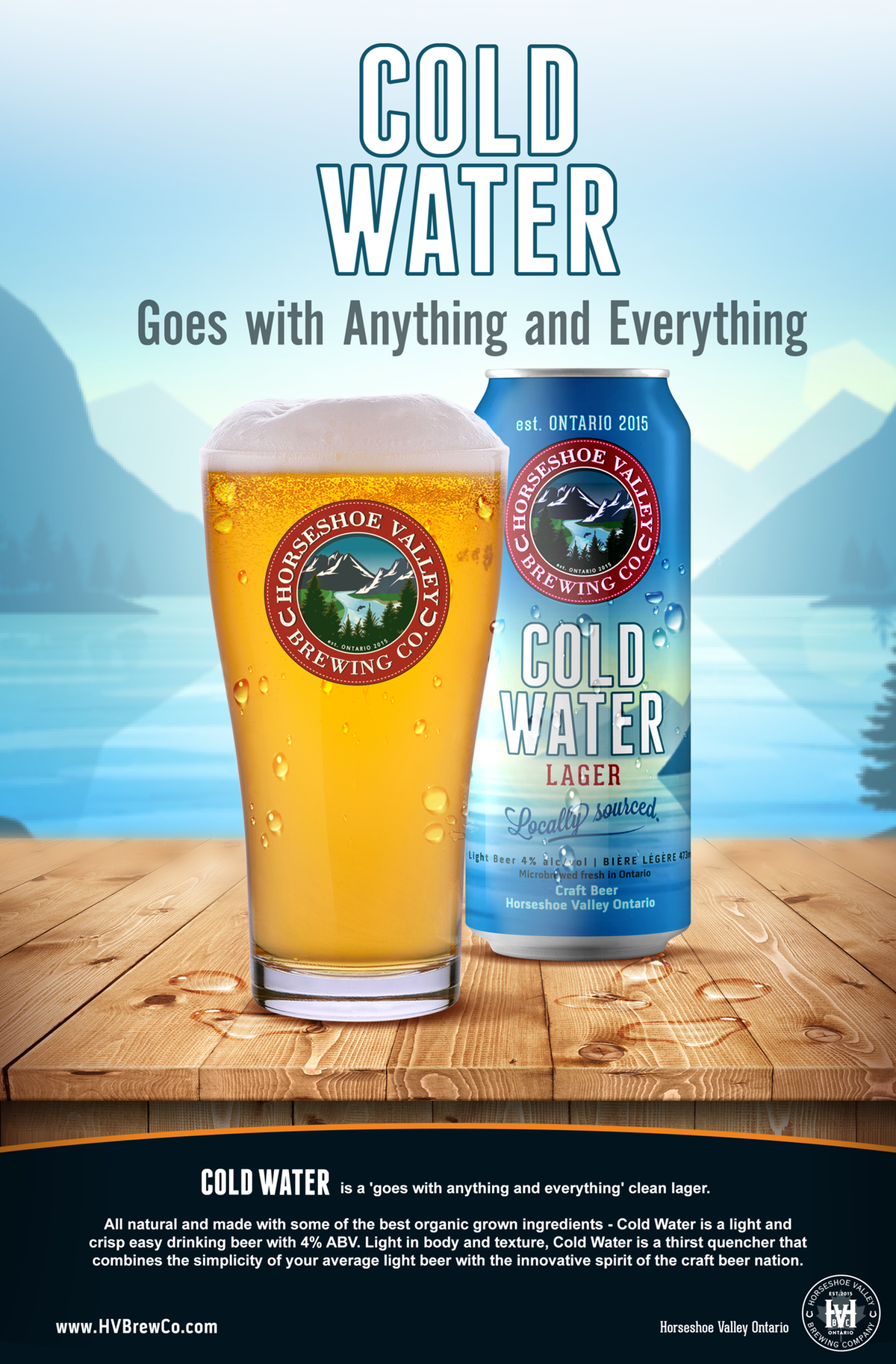 Cold Water Lager Poster