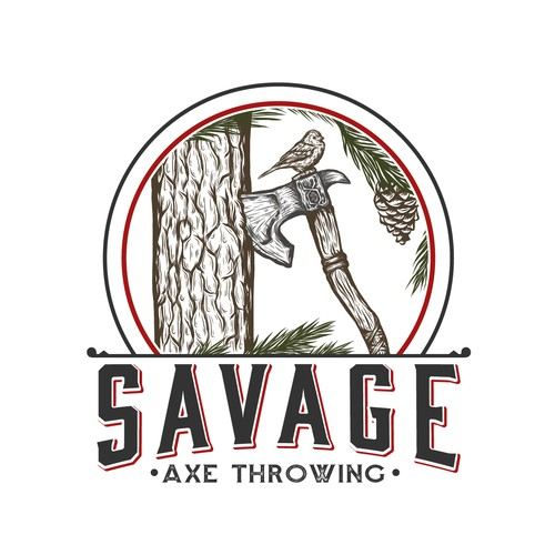 logo for a recreational axe throwing range