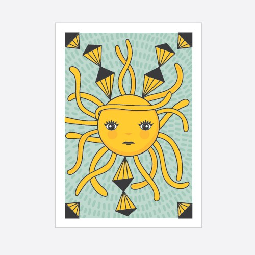 Cool and fresh sun tarot card