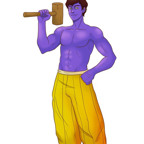 Vishnu Design for a Book Cover