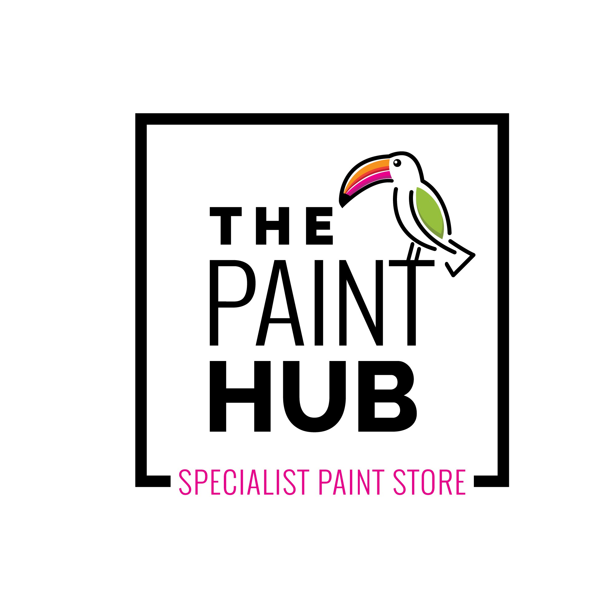 Create a logo for a new state of the art, funky-as-hell paint shop