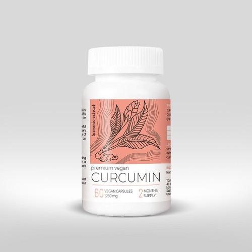 Curcumin Food Supplement Label