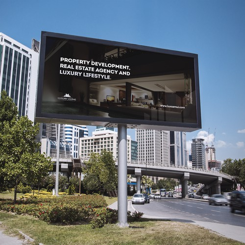Luxury real estate company looking for A new billboard design concept- Prize guarantee !!!