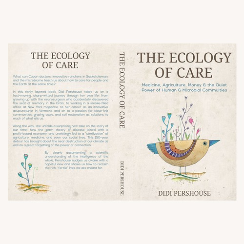 Cover design for the book about ecology and sustainability